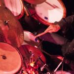 The Cuban hurricane himself, drummer Joaquin Nunez Hidaldo, holding down the groove at the Jazz Bistro.