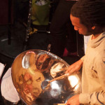 Gareth Burgess, Kalabash front man, was on fire on the steel pan at the April 17th Kalabash CD launch.
